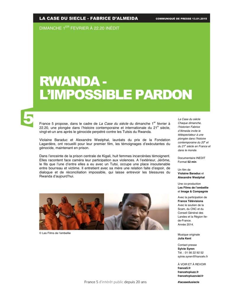 Rwanda_l'impossible pardon